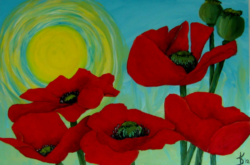 Paul gauguin minding my p 39 s with q - How to paint poppy flowers ...