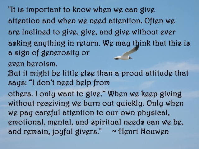seagull nouwen quote