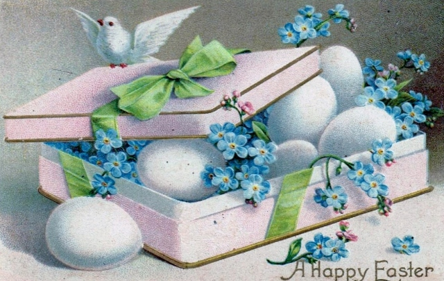 Easter Postcard Forget Me Not