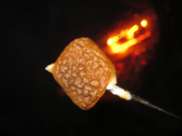 Burnt Orange Marshmallow with Campfire