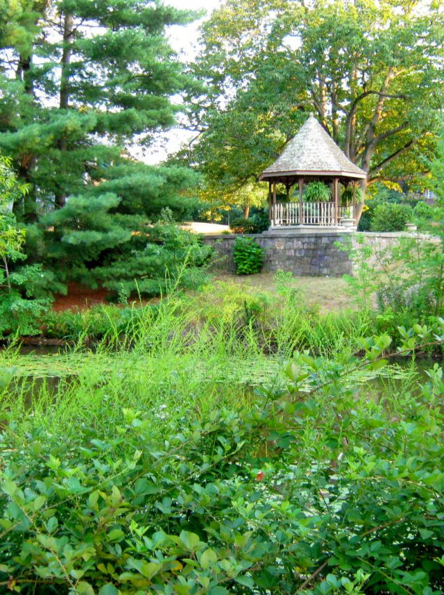 Gazebo - View across the lake.