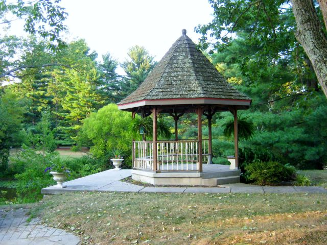Gazebo overlooking Glen Lake