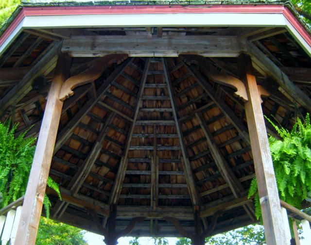 Gazebo looking up