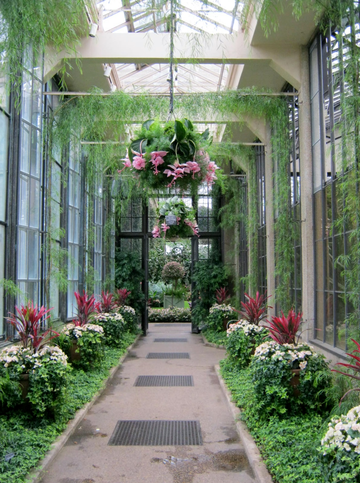 You Will Find Grids And Grates Wherever You Look In The Longwood Gardens  Conservatory. The Fragility Of The Flowers And Foliage Is Protected By The  Strength ...