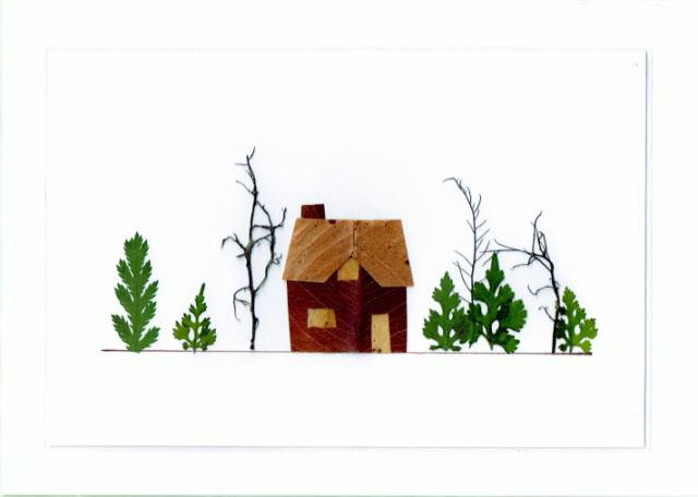pressed flower house